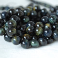 High Quality Grade A Natural Blue Tiger's Eye Gemstone Round Beads 4, 6, 8, 10mm sizes