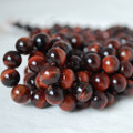 High Quality Grade A Natural Red Tiger's Eye Gemstone Round Beads 4, 6, 8, 10mm sizes