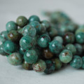 High Quality Grade A Natural Australian Bloodstone Gemstone Round Beads 4, 6, 8, 10mm sizes