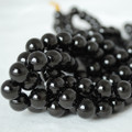 High Quality Grade A Natural Jet (black) Gemstone Round Beads 4mm, 6mm, 8mm, 10mm sizes