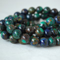 High Quality Grade A Natural Azurite Gemstone Round Beads - 8mm