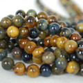 High Quality Grade A Natural Golden Pietersite Gemstone Round Beads 4, 6, 8, 10mm sizes