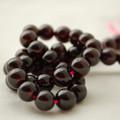 "High Quality Grade AAA Natural Garnet Semi-Precious Gemstone Round Beads - 8mm - 15"" long"