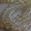 "Opalite Moonstone Faceted Semi-Precious Gemstone Round Beads 6, 8, 10mm sizes - 15"" long"