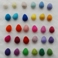 100% Wool Felt Raindrops / Teardrops - 30 Count - Light & Bright Colours