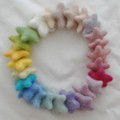 Assorted 100% Wool Felt Stars - 25 Count - Light, Pale & Pastel Colours