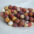 High Quality Grade A Natural Mookite / Mookaite Frosted / Matte Semi-precious Gemstone Round Beads 4mm, 6mm, 8mm, 10mm sizes