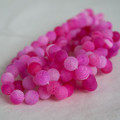 High Quality Crackle Pink Agate Frosted / Matte Semi-precious Gemstone Round Beads 4, 6, 8, 10mm sizes