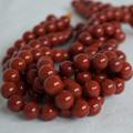 High Quality Grade A Natural Red Jasper Semi-precious Gemstone Round Beads - 4mm, 6mm, 8mm, 10mm sizes