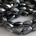 Quality Hematite Twist Beads 12 x 7mm - Non-Magnetic
