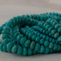 High Quality Grade A Turquoise (dyed) Semi-Precious Gemstone Faceted Rondelle / Spacer Beads - 4mm, 6mm, 8mm, 10mm sizes