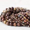 High Quality Grade A Natural Artistic Jasper (red) Semi-precious Gemstone Round Beads - 4mm, 6mm, 8mm, 10mm sizes