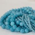 High Quality Grade A Natural Blue Sponge Quartz Semi-precious Gemstone Round Beads - 4mm, 6mm, 8mm, 10mm sizes