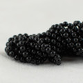 "High Quality Grade A Natural Black Obsidian Semi-Precious Gemstone Round Beads - 2mm - 15.5"" long"