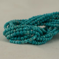 "High Quality Grade A Turquoise (dyed) Semi-Precious Gemstone Round Beads - 2mm - 15.5"" long"