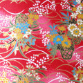 Japanese Handcrafted Yuzen Washi Chiyogami Origami Paper Large sheet - Flower Basket - approx 630mm x 945mm
