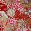Japanese Handcrafted Yuzen Washi Chiyogami Origami Paper Large sheet - Floral Flowers - approx 630mm x 945mm