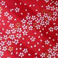 Japanese Handcrafted Yuzen Washi Chiyogami Origami Paper Large sheet - Sakura White Cherry Flowers - approx 630mm x 945mm