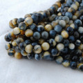 High Quality Grade A Natural Fancy Tiger Eye Semi-precious Gemstone Round Beads - 6mm, 8mm, 10mm, 12mm sizes