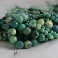High Quality Grade A Natural Moss Green Opal Semi-precious Gemstone Round Beads - 4mm, 6mm, 10mm sizes