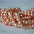 "15"" Strand Natural Freshwater Pearl Beads Round / Potato Pink 5mm, 7mm, 9mm Grade A"