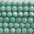Semi-Precious Gemstone Amazonite Round Beads 4mm, 6mm, 8mm, 10mm, 12mm