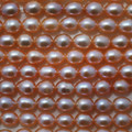 "15"" Strand Natural Freshwater Pearl Beads Rice Pink 6 - 7mm"