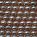 "15"" Strand Natural Freshwater Pearl Beads Rice Purple 6 - 7mm Grade A"