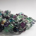 High Quality Grade A Natural Rainbow Fluorite Semi-Precious Gemstone Round Beads - 4mm, 6mm, 8mm, 10mm