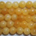 Semi-Precious Gemstone Yellow / Orange Jade Round Beads 4mm, 6mm, 8mm, 10mm