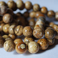 Semi-Precious Gemstone Picture Jasper Round Beads 4mm, 6mm, 8mm, 10mm