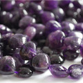 10 x Semi-Precious Gemstone Amethyst Beads Heart 12mm