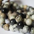 High Quality Grade A Natural Picasso Jasper Semi-Precious Gemstone Round Beads - 4mm, 6mm, 8mm, 10mm