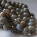 High Quality Grade A Natural Labradorite Semi-Precious Gemstone Round Beads - 4mm, 6mm, 8mm, 10mm,12mm