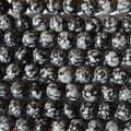 High Quality Grade A Natural Snowflake Obsidian Semi-Precious Gemstone Round Beads - 4mm, 6mm, 8mm, 10mm