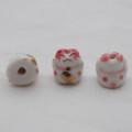 Maneki Neko Lucky Cat Porcelain Bead - Feng Shui - Getting Wealthier