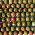 High Quality Grade A Natural Unakite Semi-precious Gemstone Round Beads - 4mm, 6mm, 8mm, 10mm