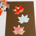 Japanese Yuzen Washi Paper Sticker Pack - Maple Leaf