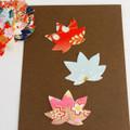 Japanese Yuzen Washi Paper Sticker Pack - Maple Leaf