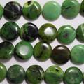 8 Semi Precious Gemstone Chrysotine Disc Coin Beads 14mm