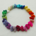 30 Assorted 100% Wool Felt Hearts - Light & Bright Colours