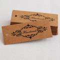 25 Kraft Paper Sewing Label Card Gift Tag - Hand Made - Vintage Style