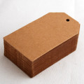25 Extra Thick Kraft Paper Blank Sewing Label Gift or Price Tag