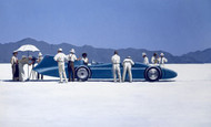 Bluebird At Bonneville  is an Open Edition surreal, figurative print by Scottish artist Jack Vettriano