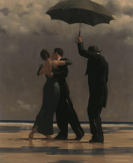 Dancer In Emerald is an Open Edition surreal, figurative print by Scottish artist Jack Vettriano