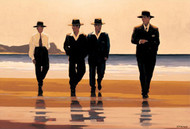 The Billy Boys   is an Open Edition surreal, figurative print by Scottish artist Jack Vettriano
