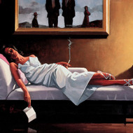 The Letter 1  is an Premium Print surreal, figurative print by Scottish artist Jack Vettriano