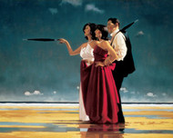 The Missing Man II is an Open Edition surreal, figurative print by Scottish artist Jack Vettriano
