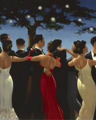 Waltzers is an Open Edition surreal, figurative print by Scottish artist Jack Vettriano
