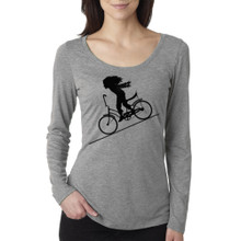 FASTER FASTER on women's long sleeve